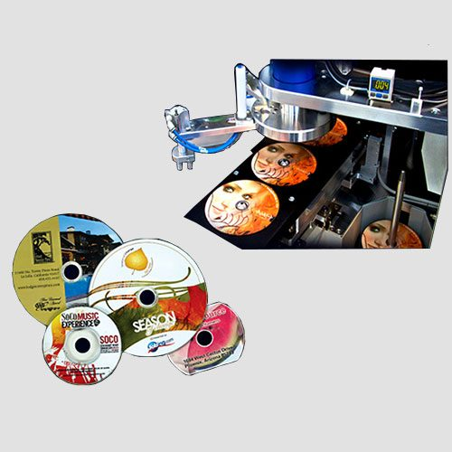 Image of sample prints of CD & DVD's, Pasadena Image Printing, CD & DVD