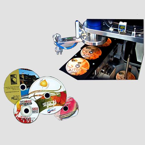 Image of sample prints of CD & DVD's, Pasadena Image Printing, CD & DVD