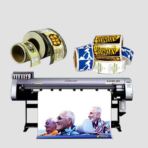 Image of sample prints of roll labels, Pasadena Image Printing, Roll Labels