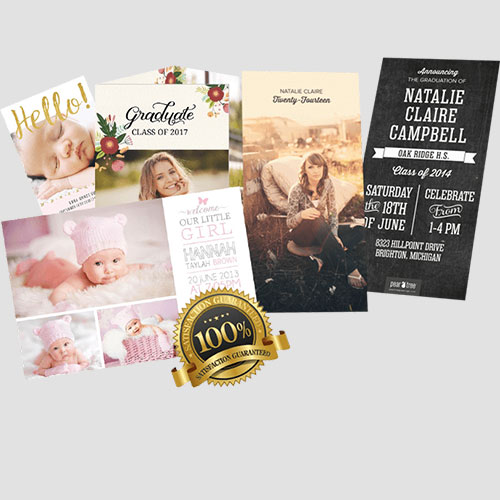 Image of Sample of Annoucement Cards, Pasadena Image Printing,Announcement Cards