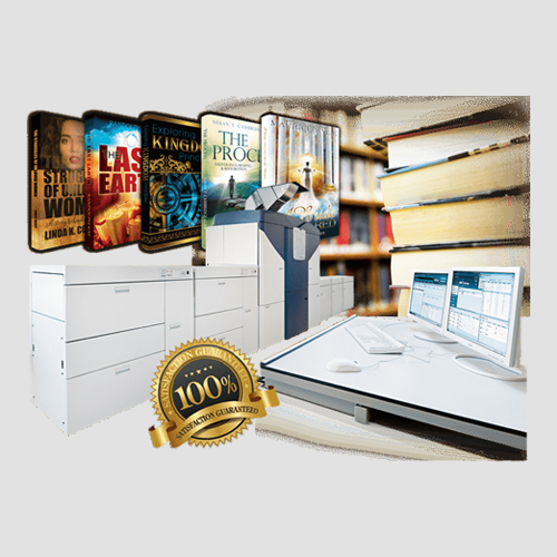 Image of sample prints of book publishing, Pasadena Image Printing, Book Publishing