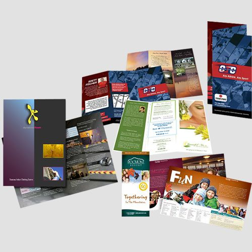 Image of Sample prints of Brochures, Pasadena Image printing, Brochures