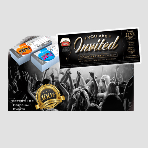 Image of Sample prints of Event Tickets, Pasadena Image Printing, Event Tickets