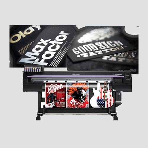 Image of sample prints of foil application, Pasadena Image Printing, Foil Application