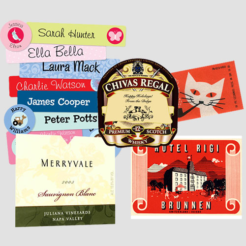 Image of Sample prints of Labels, Pasadena Image Printing, labels