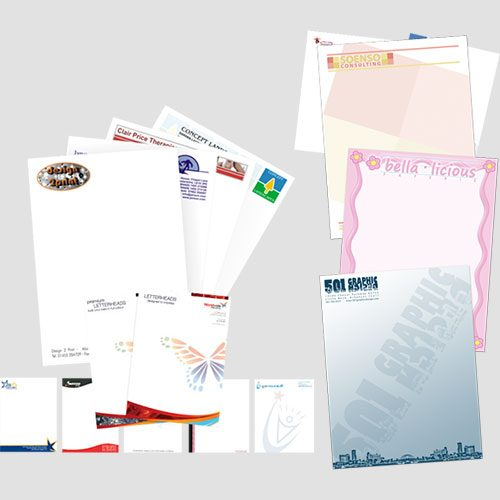 Image of Sample prints of letterhead, Pasadena Image Printing, Letterhead