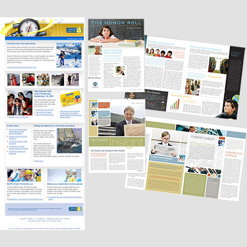 Image of Sample Prints of Newsletters, Pasa