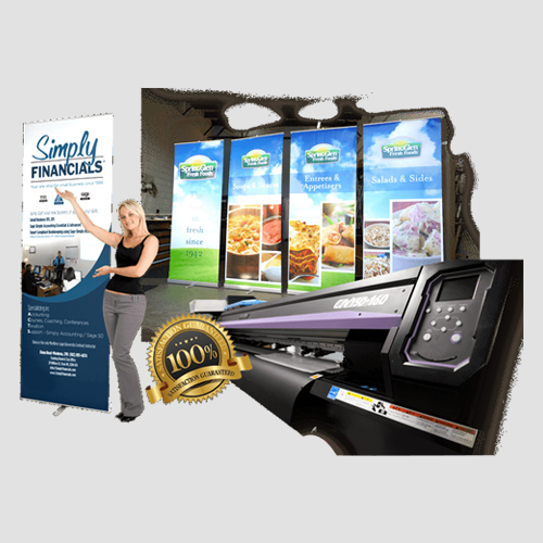 Image of Sample prints of retractable banners, Pasadena Image Printing, Retractable Banners
